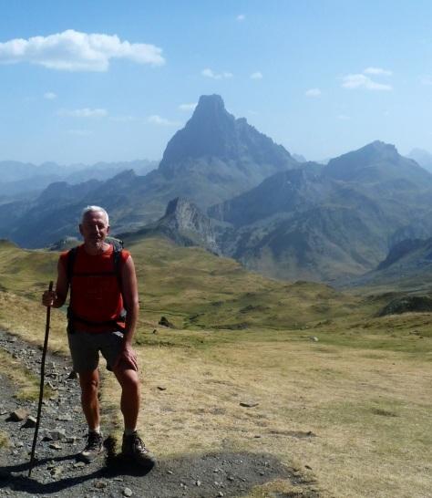 Le Pic du Midi d'Ossau vu du col des Moines