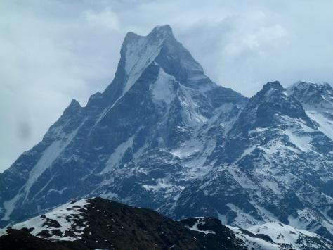 Macchapuchare depuis la crête du Mardi Himal