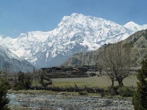 Annapurna III depuis le village de Chulu après Upper Pisang