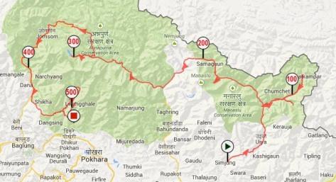 Trace GPS Manaslu - Annapurna