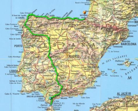 Traversée de l'Espagne