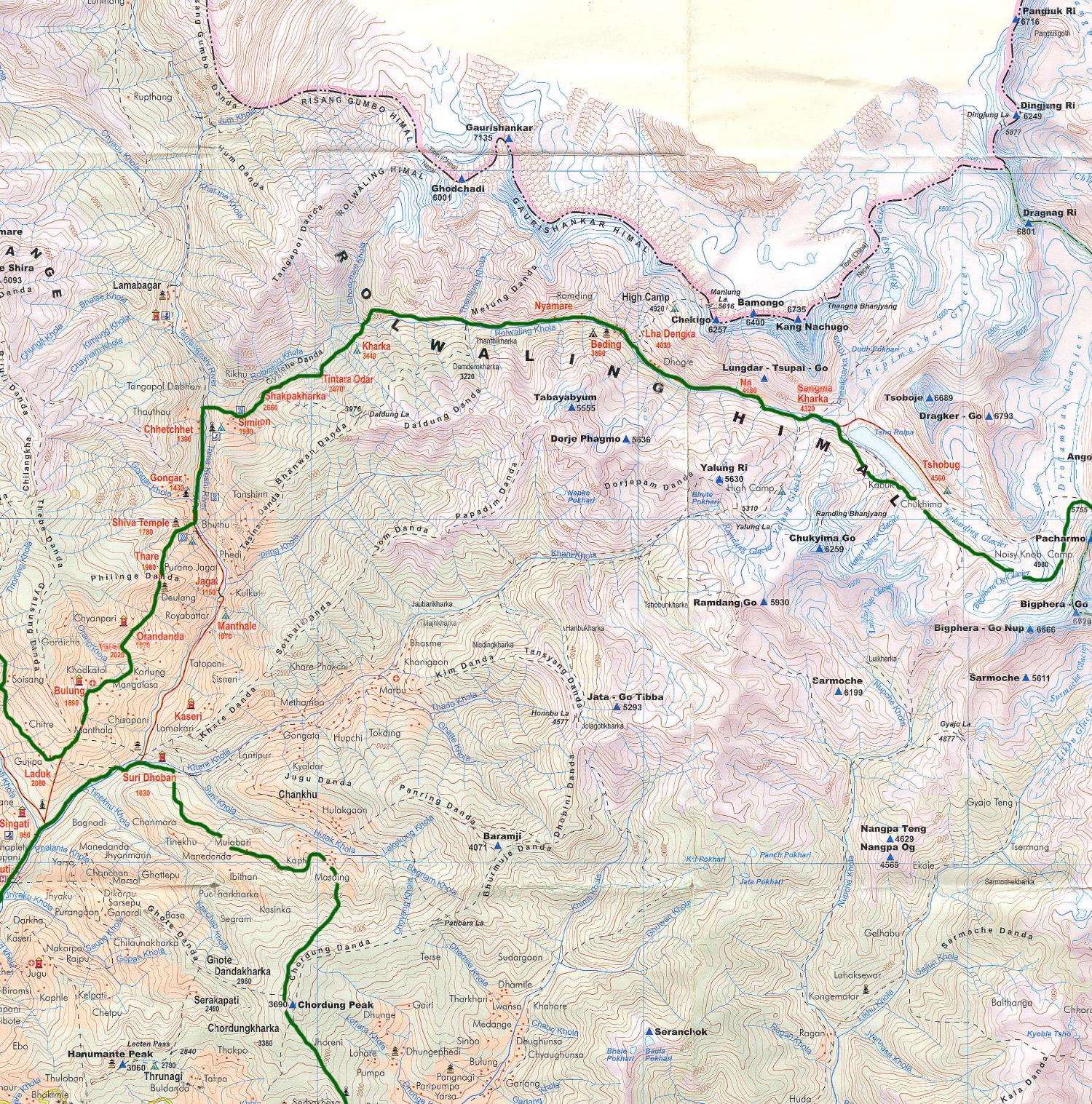 Le Rolwaling du Tashi Lapsa à Bulung