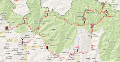 Trace GPS Khumbu-Rolwaling