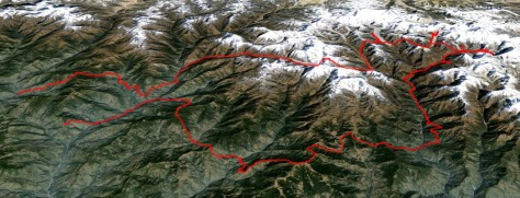 Khumbu-Rolwaling : trace en format kmz pour Google Earth