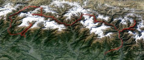 Tour Manaslu - Annapurna : trace en format kmz pour Google Earth