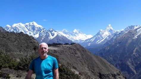 Point de vue sur l'Everest et l'Ama Dablam