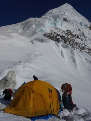 Camp au pied du Tashi Lapsa