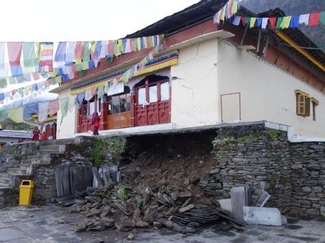 Le monastère de Bigu Gompa à notre arrivée