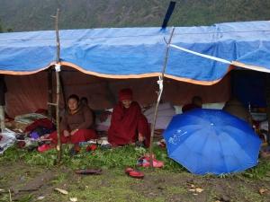 Le campement des nonnes