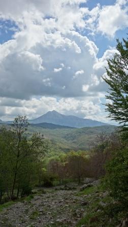 Le monte Alpi dans la montée vers le mont Sirino