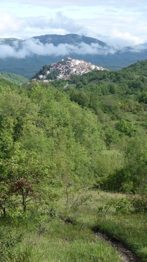 Oricola et les monts Lucrétili