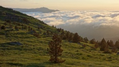 Le soir au sommet du Monte Pennello